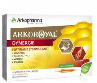 Arkoroyal Dynergie Ginseng Gelée royale Propolis Solution buvable 20 Ampoules/10ml à MONTPELLIER