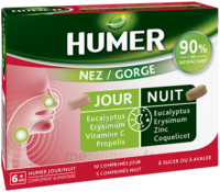 HUMER Nez/Gorge jour&nuit 15 comprimés à MONTPELLIER