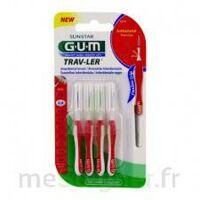 GUM TRAV - LER, 0,8 mm, manche rouge , blister 4 à MONTPELLIER